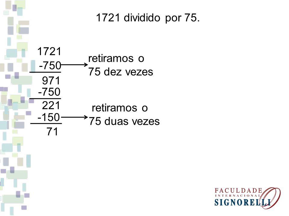 1721 dividido por 75.