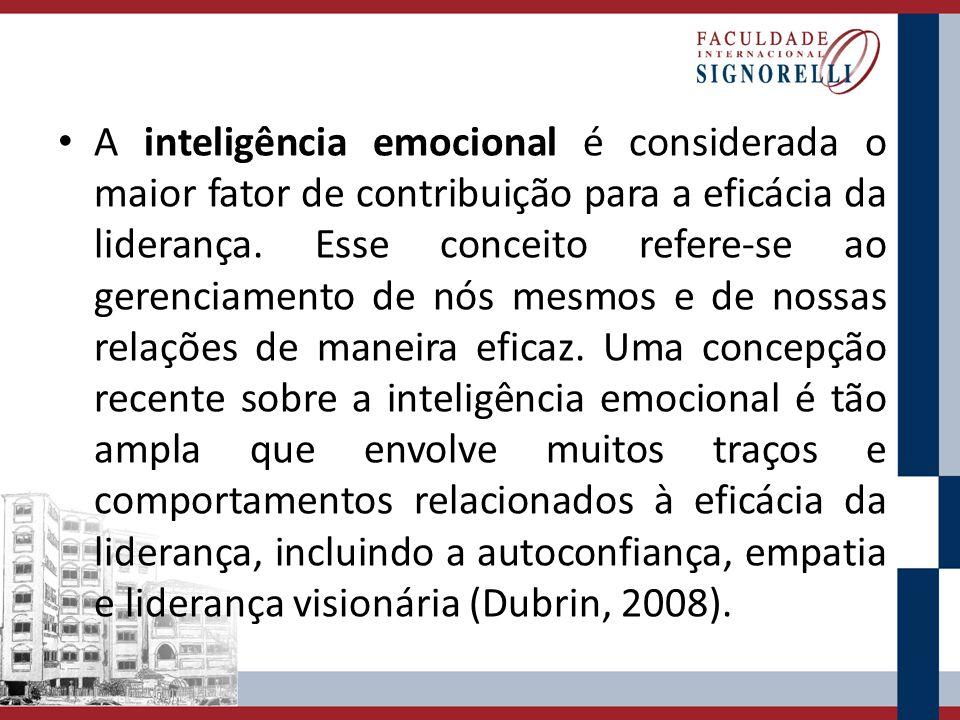 A inteligência emocional é considerada o maior fator de contribuição para a eficácia da liderança. Esse conceito refere-se ao gerenciamento de nós mes