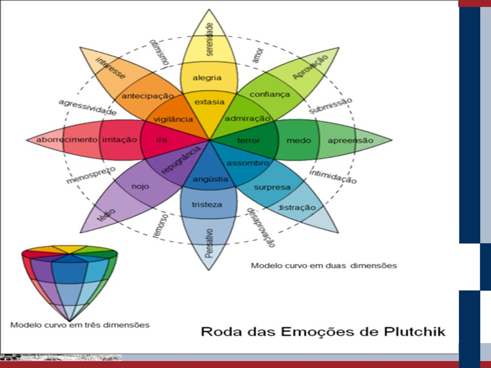 Emoções Secundárias – estados afetivos mais complexos que as emoções primárias. Dividem-se em duas formas: Estados afetivos sensoriais (sensações de p