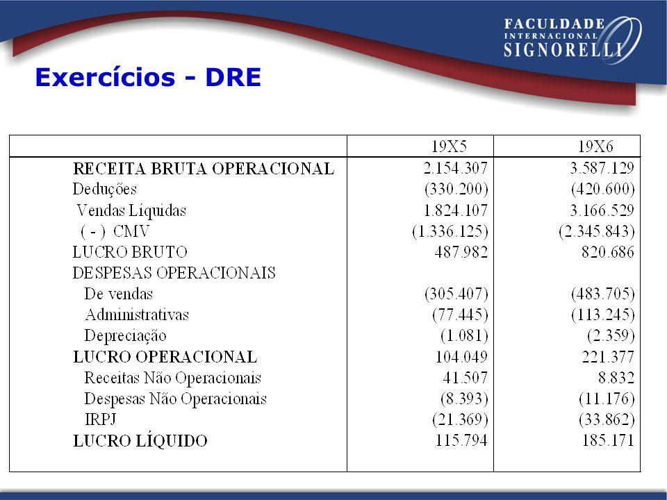 Exercícios - DRE