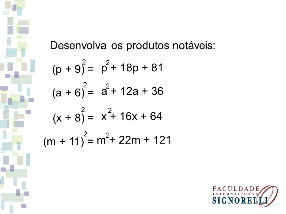 Quadrado da Diferença (a - b).
