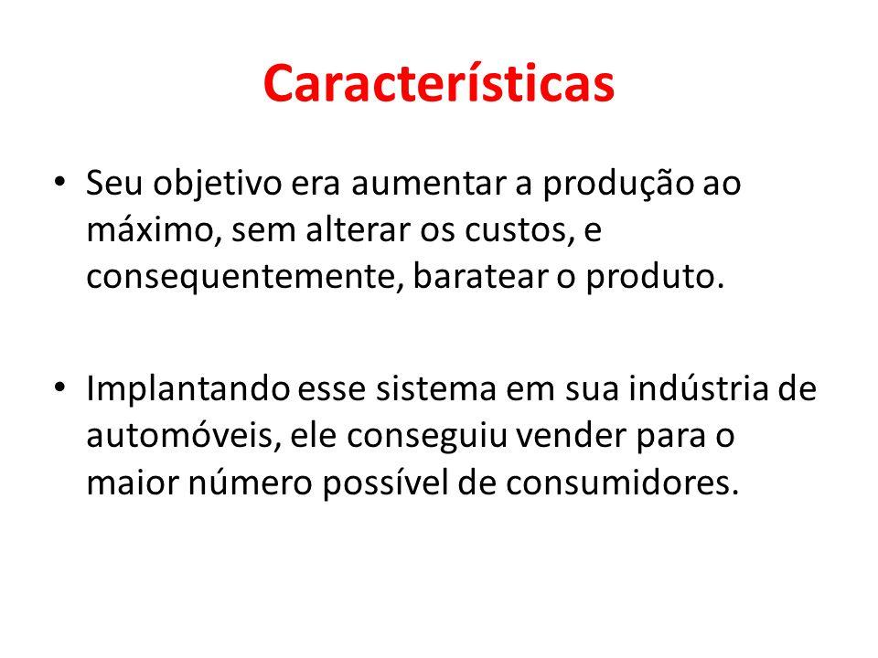 PRINCÍPIOS DO FORDISMO Princípio da Intensificação Consiste em reduzir o tempo de produção com o emprego imediato dos equipamentos e matérias-primas e a rápida colocação do produto no mercado.