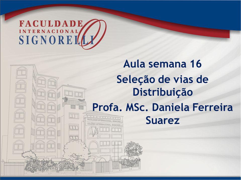 Aula semana 16 Seleção de vias de Distribuição Profa. MSc. Daniela Ferreira Suarez