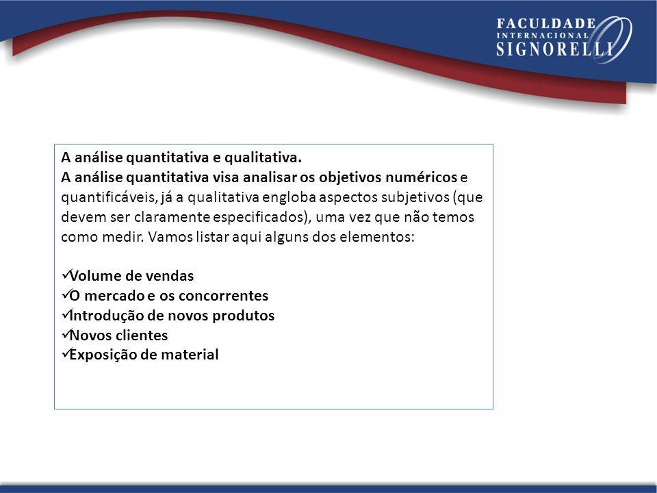 A análise quantitativa e qualitativa.