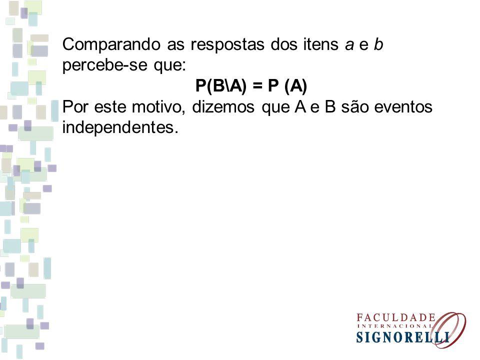 Produto de Probabilidades Consideremos então: No lançamento de dois dados, qual é a probabilidade de se obter o número 5 nos dois dados.