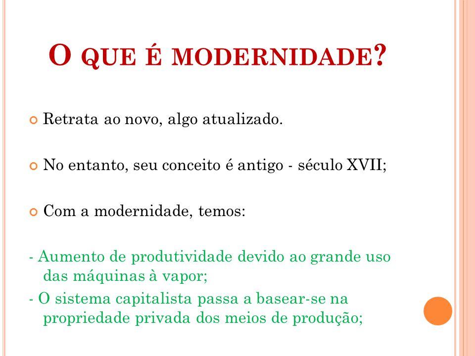 Características da modernidade