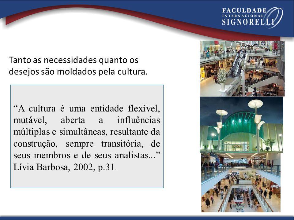 Tanto as necessidades quanto os desejos são moldados pela cultura. A cultura é uma entidade flexível, mutável, aberta a influências múltiplas e simult