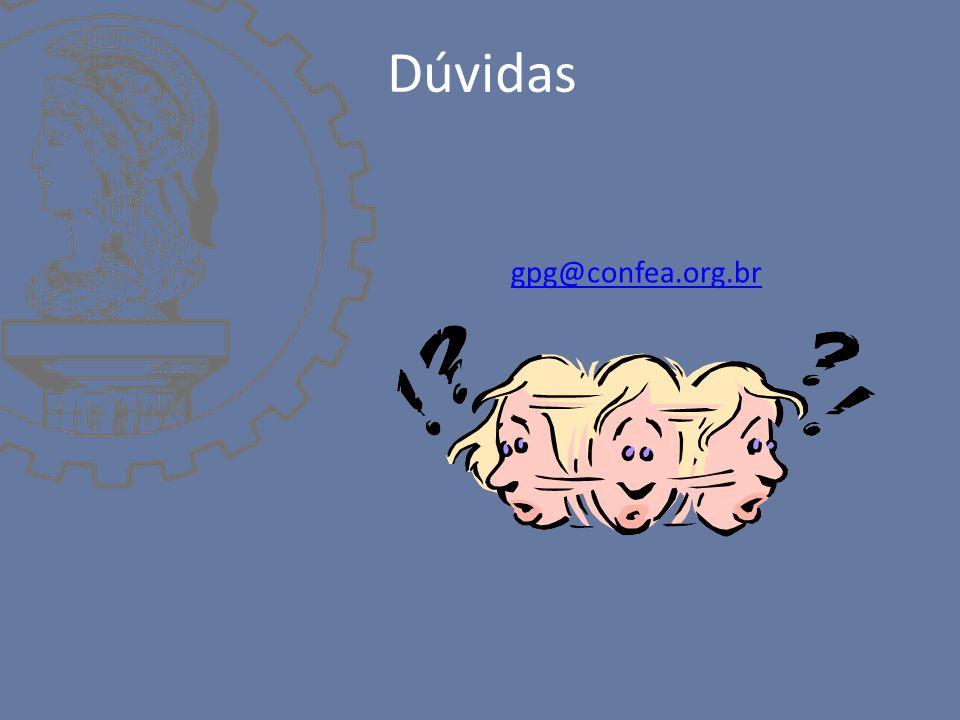 Dúvidas gpg@confea.org.br