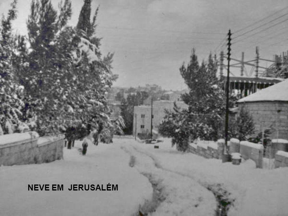 1950 שלג כבד בירושלים EM 1950 UMA FORTE TEMPESTADE DE NEVE EM JERUSALÉM