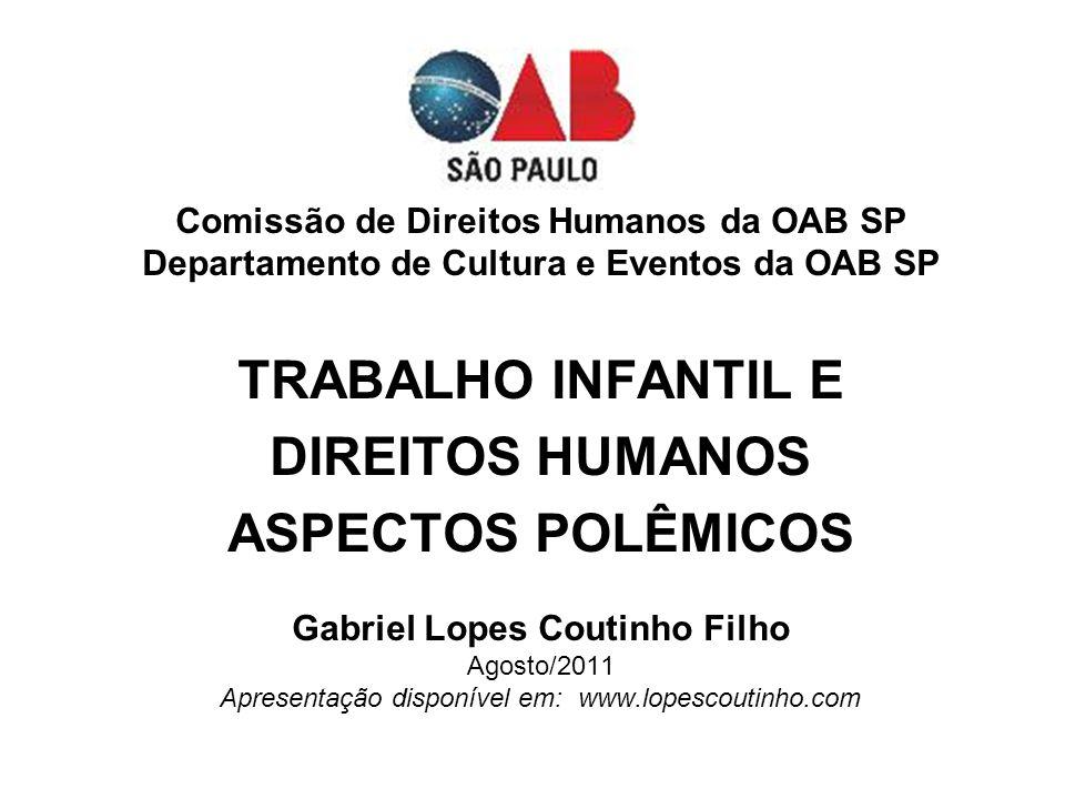 PRIMEIRAS CONCLUSÕES O BRASIL, apesar de possuir uma Constituição moderna e normas de caráter protetivo á criança tem uma missão relevante pela frente.