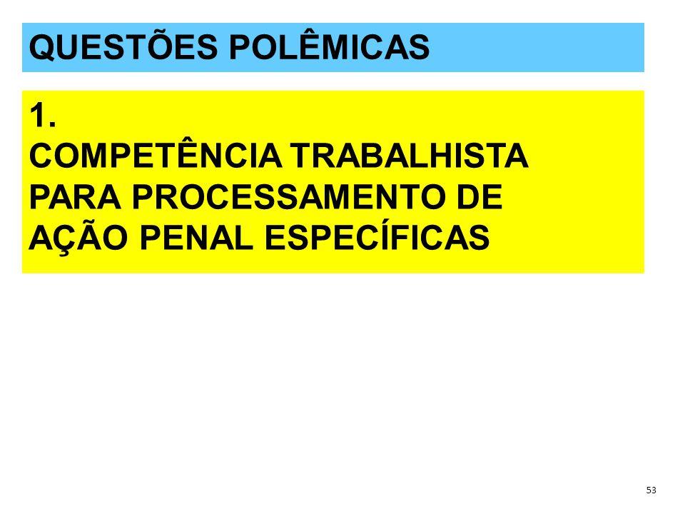 QUESTÕES POLÊMICAS 53 QUESTÕES POLÊMICAS 1.