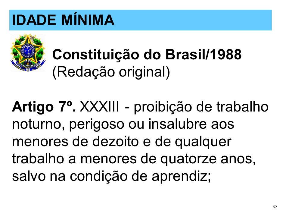 Constituição do Brasil/1988 (Redação original) Artigo 7º.