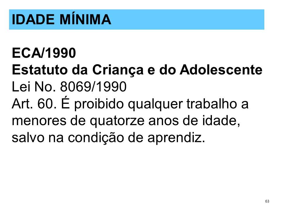 ECA/1990 Estatuto da Criança e do Adolescente Lei No.