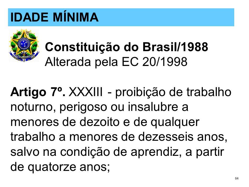 Constituição do Brasil/1988 Alterada pela EC 20/1998 Artigo 7º.