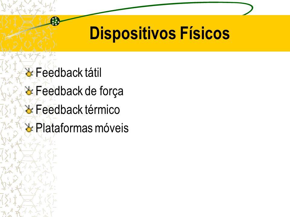 Feedback tátil Feedback de força Feedback térmico Plataformas móveis