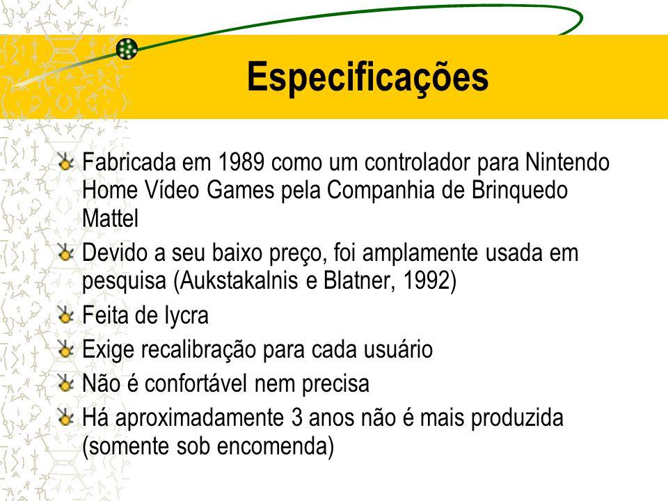 Especificações Fabricada em 1989 como um controlador para Nintendo Home Vídeo Games pela Companhia de Brinquedo Mattel Devido a seu baixo preço, foi a