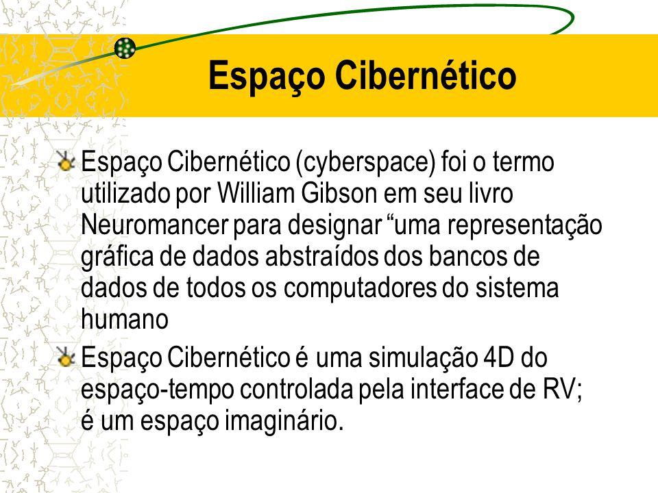 Espaço Cibernético Espaço Cibernético (cyberspace) foi o termo utilizado por William Gibson em seu livro Neuromancer para designar uma representação g