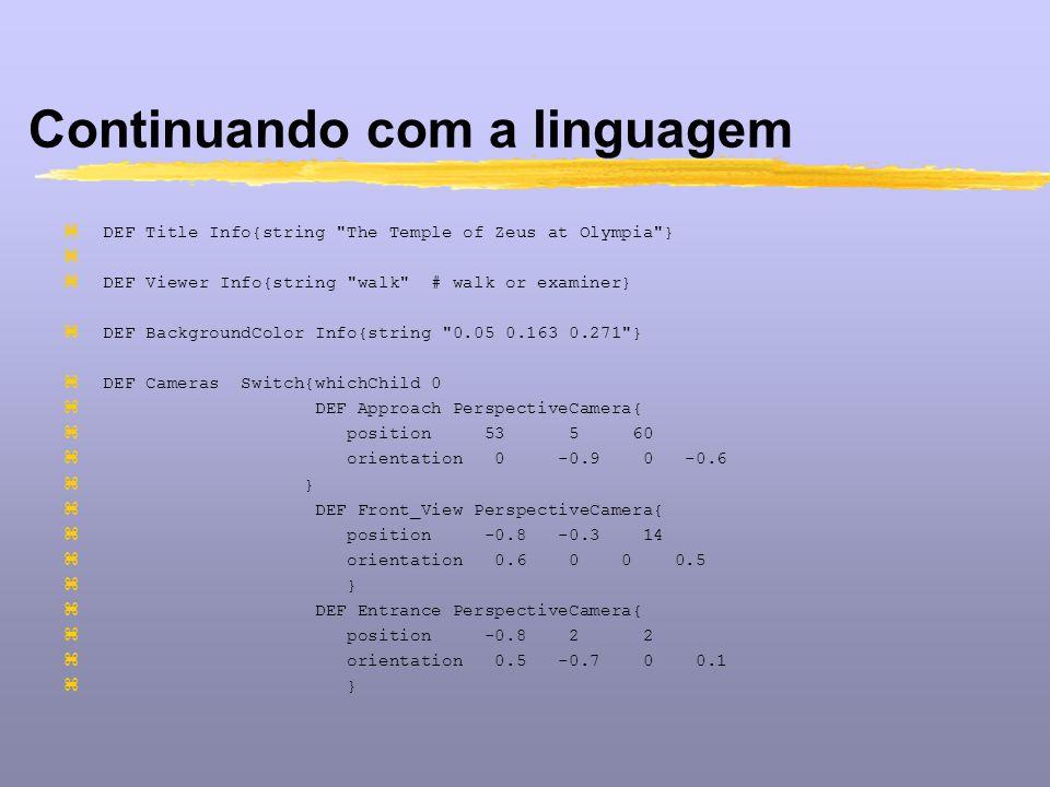 Continuando com a linguagem zDEF Title Info{string