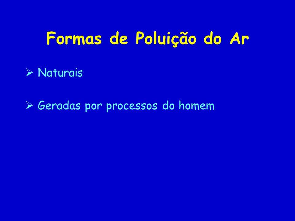Formas de Poluição do Ar Naturais Geradas por processos do homem