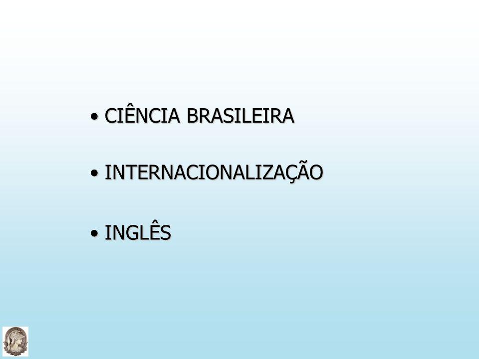 CIÊNCIA BRASILEIRA INTERNACIONALIZAÇÃO INGLÊS Algumas reflexões e considerações...