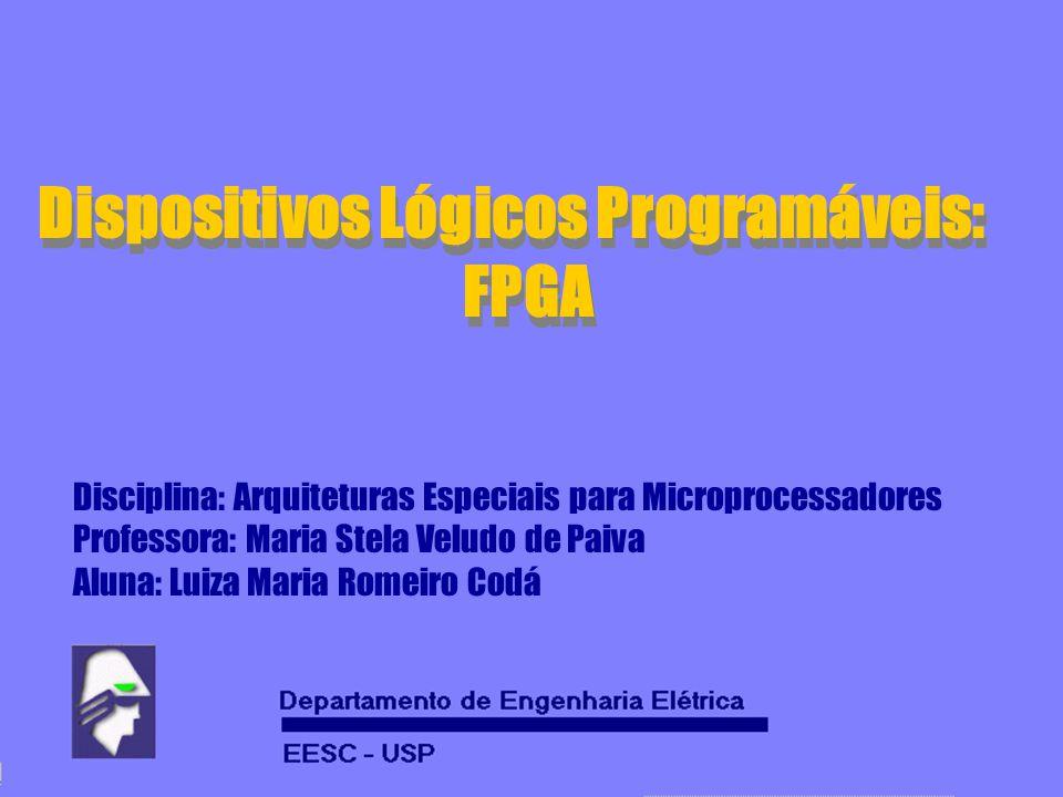 Dispositivos Lógicos Programáveis: FPGA Dispositivos Lógicos Programáveis: FPGA Disciplina: Arquiteturas Especiais para Microprocessadores Professora: