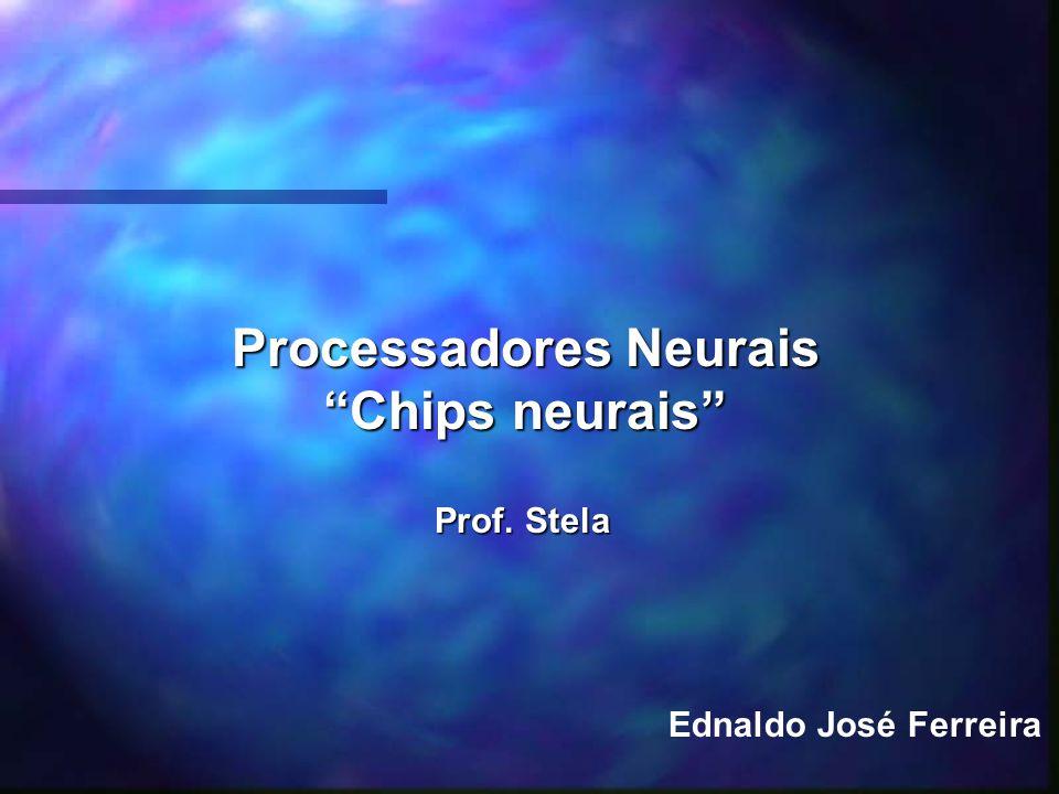 Processadores Neurais Chips neurais Ednaldo José Ferreira Prof. Stela