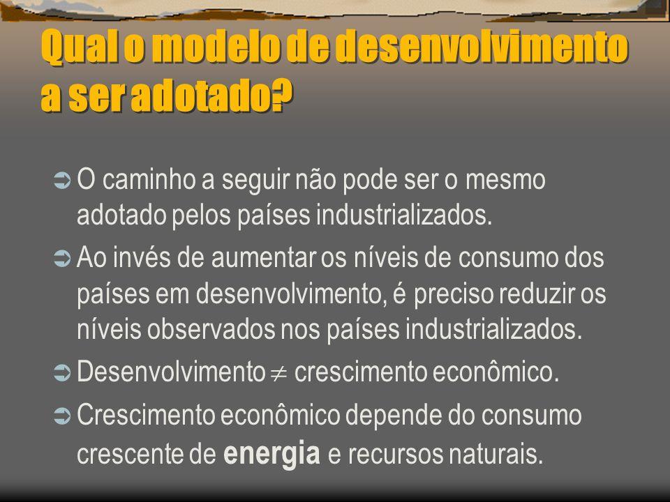Como se alcança o desenvolvimento sustentável? O desenvolvimento sustentável depende de planejamento e do reconhecimento de que os recursos naturais s