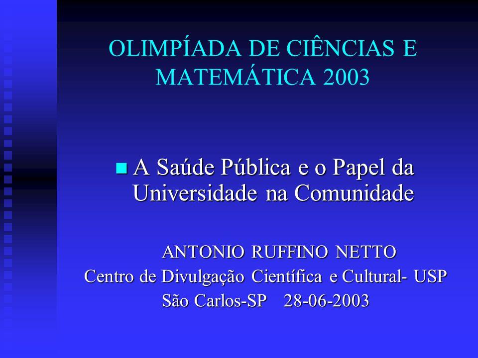 Relações entre Clínicas e a Epidemiologia 1.000 J.R Carvalheiro- R.Preto 1975-1976 (8.791 pessoas seguidas = 3 semanas de estudo) 265 Relatam doenças 21 Consultam médico 3,7 Internação