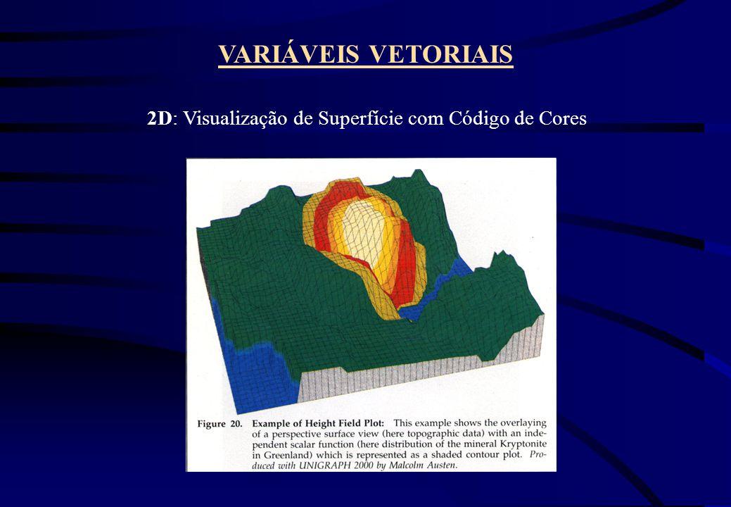 VARIÁVEIS VETORIAIS 2D: Visualização de Superfície com Código de Cores