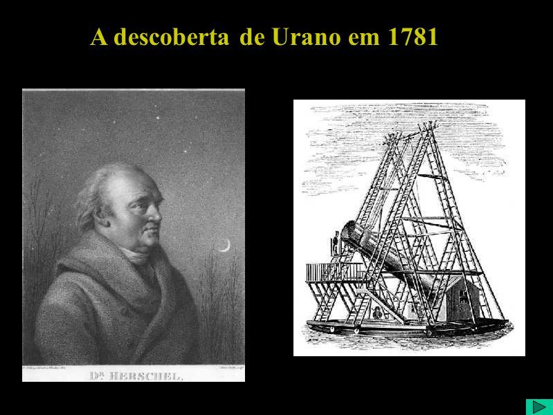 A descoberta de Urano em 1781