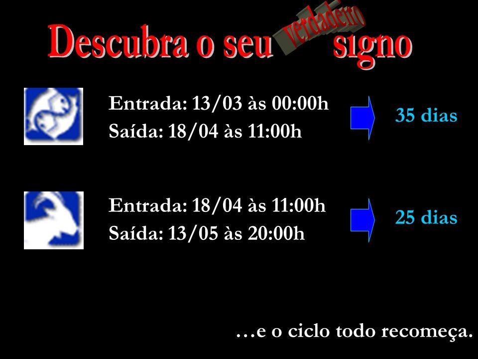 27 dias Entrada: 16/02 às 19:00h Saída: 13/03 às 00:00h 26 dias Saída: 16/02 às 19:00h Entrada: 20/01 às 12:00h 33 dias Entrada: 17/12 às 20:00h Saída: 20/01 às 12:00h