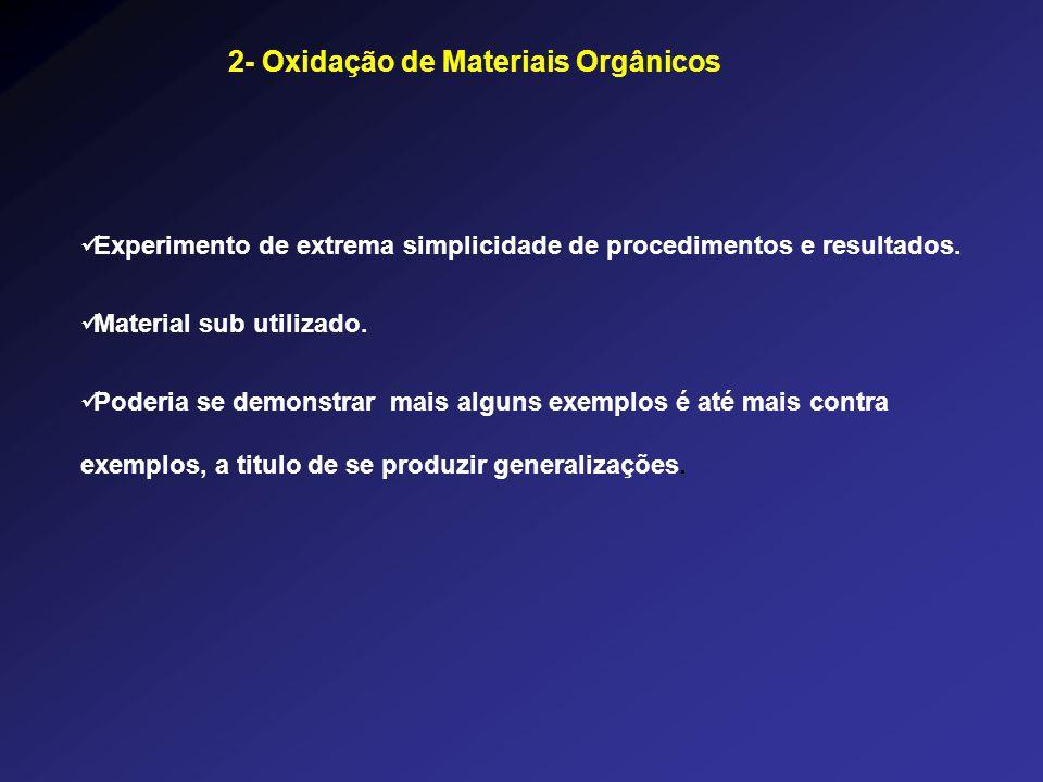 Experimento de extrema simplicidade de procedimentos e resultados. Material sub utilizado. Poderia se demonstrar mais alguns exemplos é até mais contr