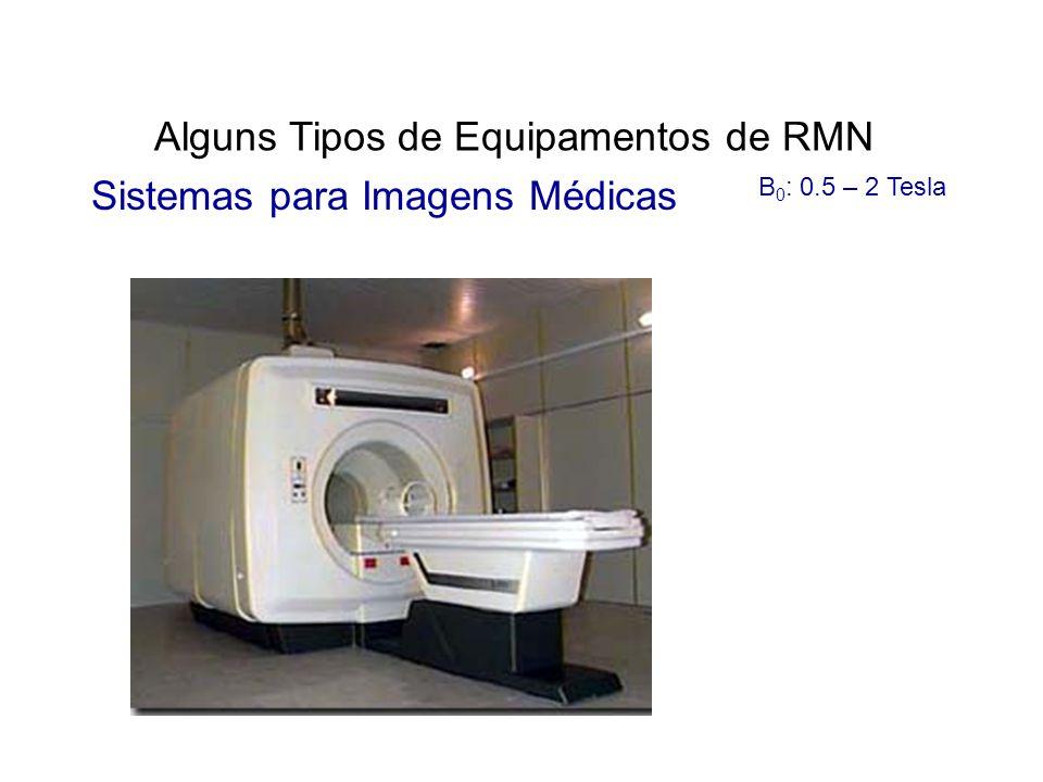 Alguns Tipos de Equipamentos de RMN Sistemas para Imagens Médicas B 0 : 0.5 – 2 Tesla