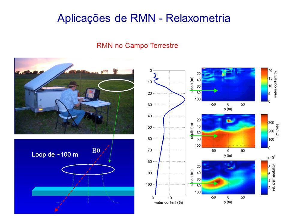 Aplicações de RMN - Relaxometria RMN no Campo Terrestre Loop de ~100 m