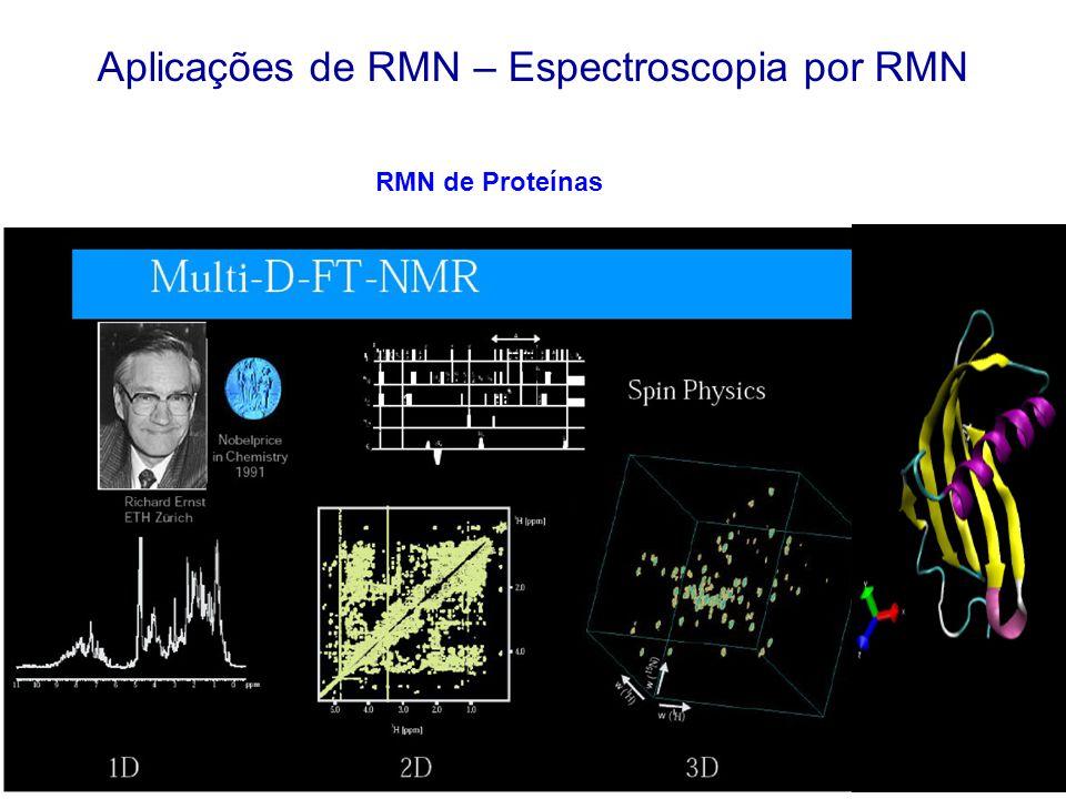 Aplicações de RMN – Espectroscopia por RMN RMN de Proteínas