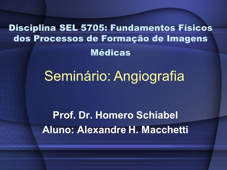 Disciplina SEL 5705: Fundamentos Físicos dos Processos de Formação de Imagens Médicas Prof.