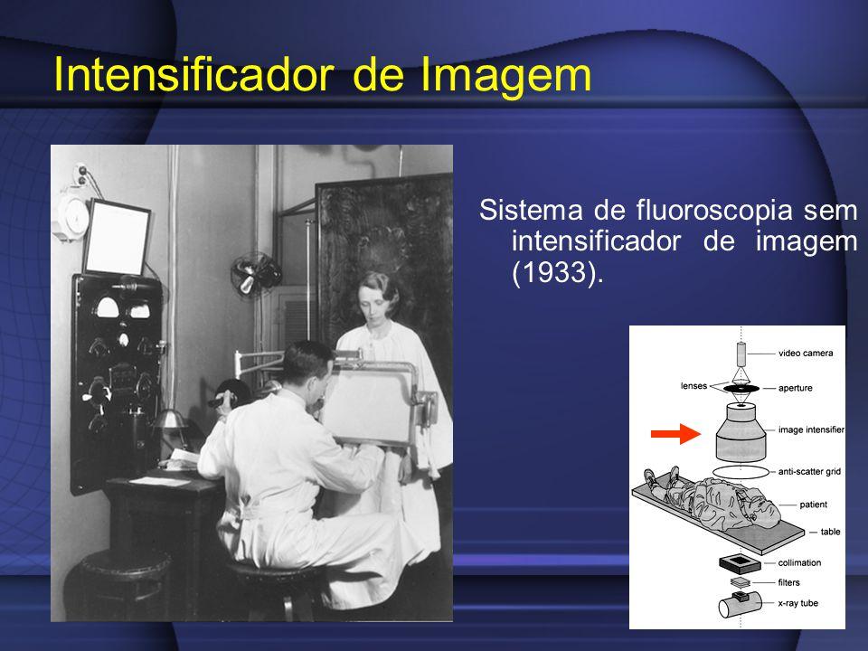Intensificador de Imagem Sistema de fluoroscopia sem intensificador de imagem (1933).