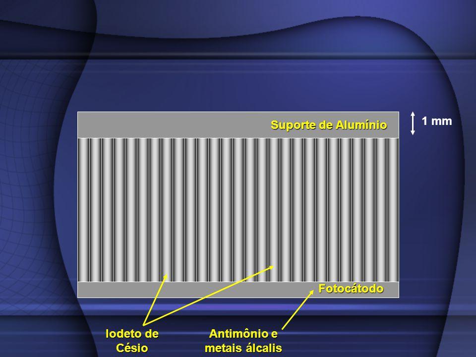 Fotocátodo Suporte de Alumínio Iodeto de Césio 1 mm Antimônio e metais álcalis