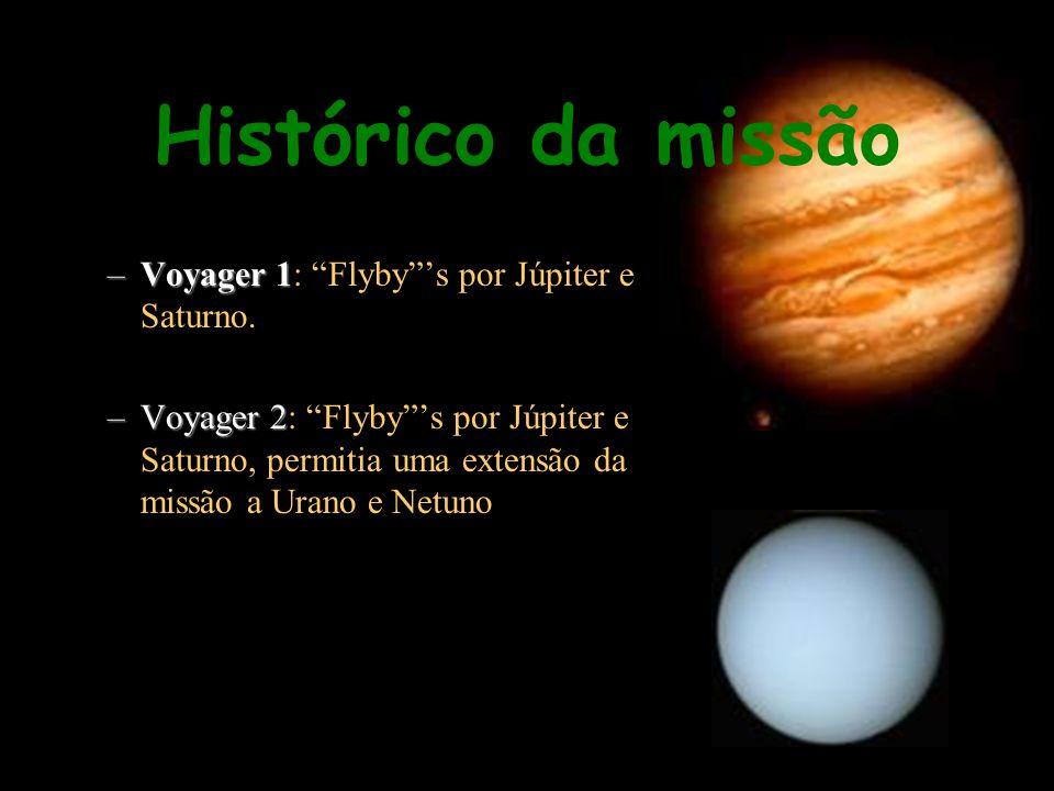 –Voyager 1 –Voyager 1: Flybys por Júpiter e Saturno. –Voyager 2 –Voyager 2: Flybys por Júpiter e Saturno, permitia uma extensão da missão a Urano e Ne