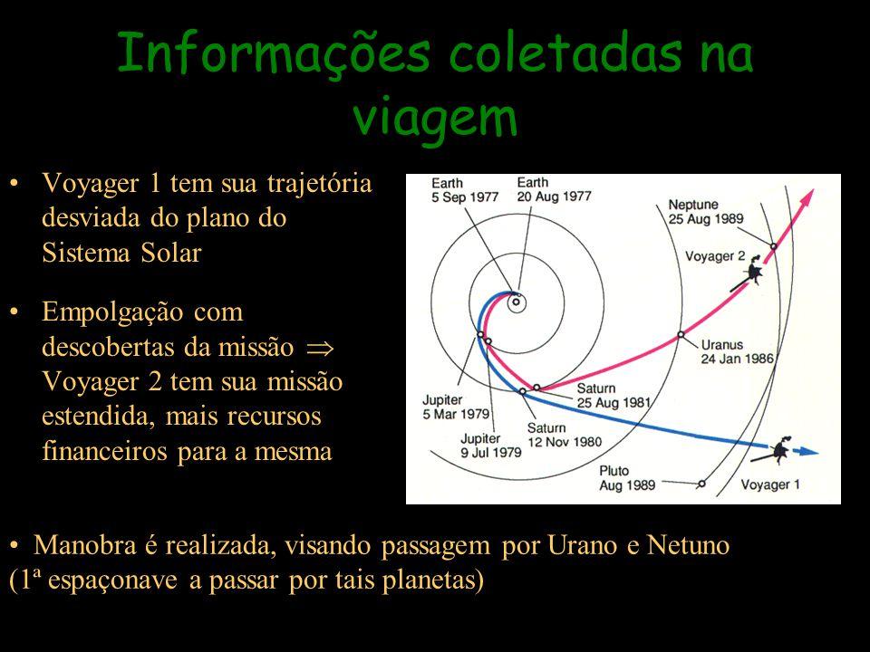Voyager 1 tem sua trajetória desviada do plano do Sistema Solar Empolgação com descobertas da missão Voyager 2 tem sua missão estendida, mais recursos