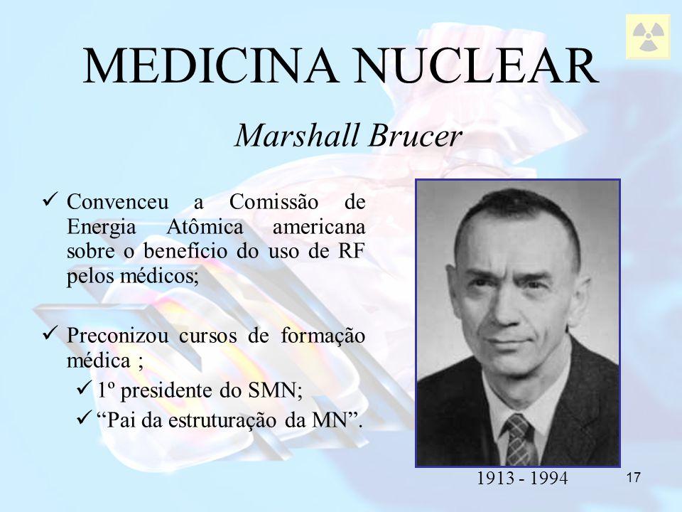 17 Convenceu a Comissão de Energia Atômica americana sobre o benefício do uso de RF pelos médicos; Preconizou cursos de formação médica ; 1º president