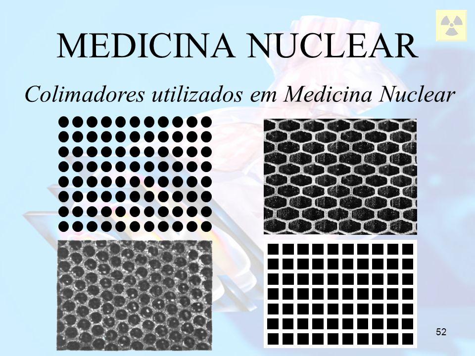 52 MEDICINA NUCLEAR Colimadores utilizados em Medicina Nuclear