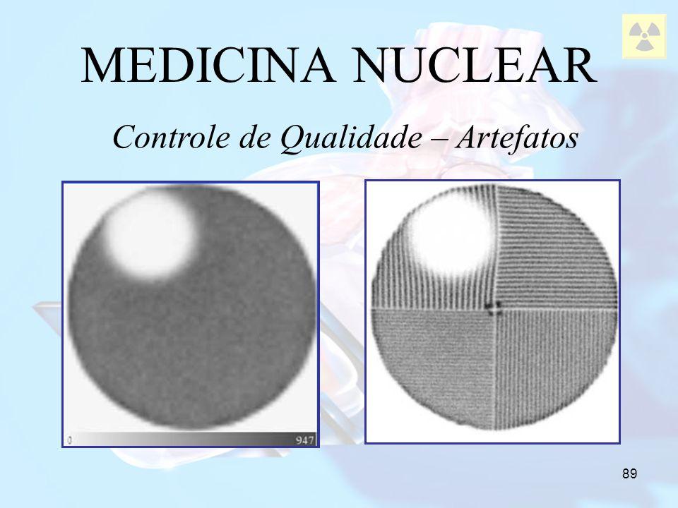 89 MEDICINA NUCLEAR Controle de Qualidade – Artefatos