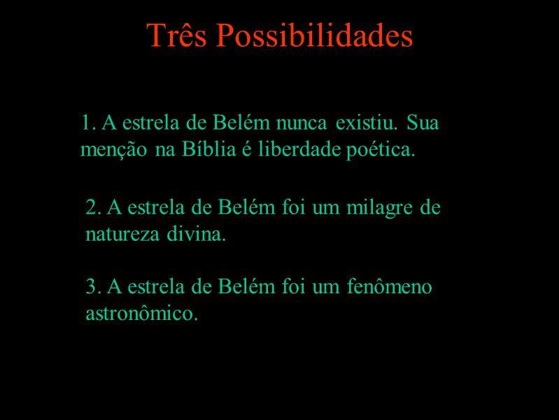 Três Possibilidades 1.A estrela de Belém nunca existiu.