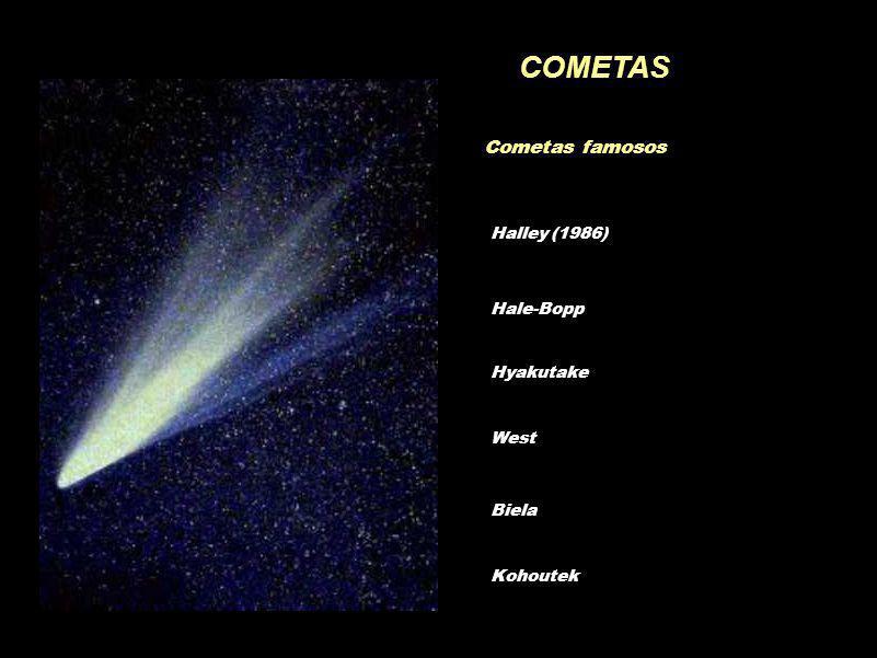 COMETAS Cometas famosos Hale-Bopp Hyakutake West Biela Halley (1986) Kohoutek