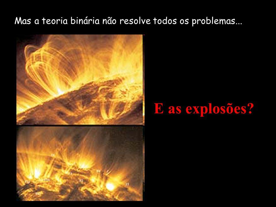 Mas a teoria binária não resolve todos os problemas... E as explosões?