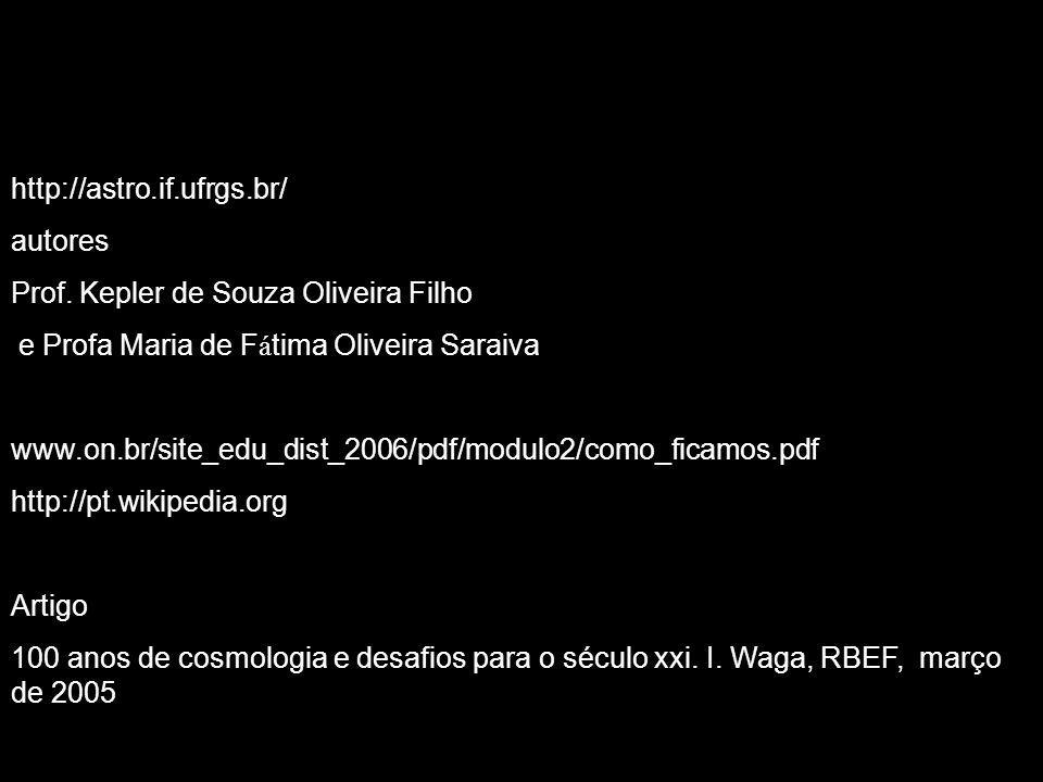 http://astro.if.ufrgs.br/ autores Prof. Kepler de Souza Oliveira Filho e Profa Maria de F á tima Oliveira Saraiva www.on.br/site_edu_dist_2006/pdf/mod