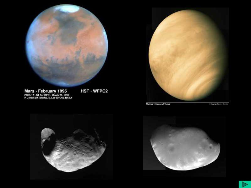 Marte,Vênus,Fobos, Deimos