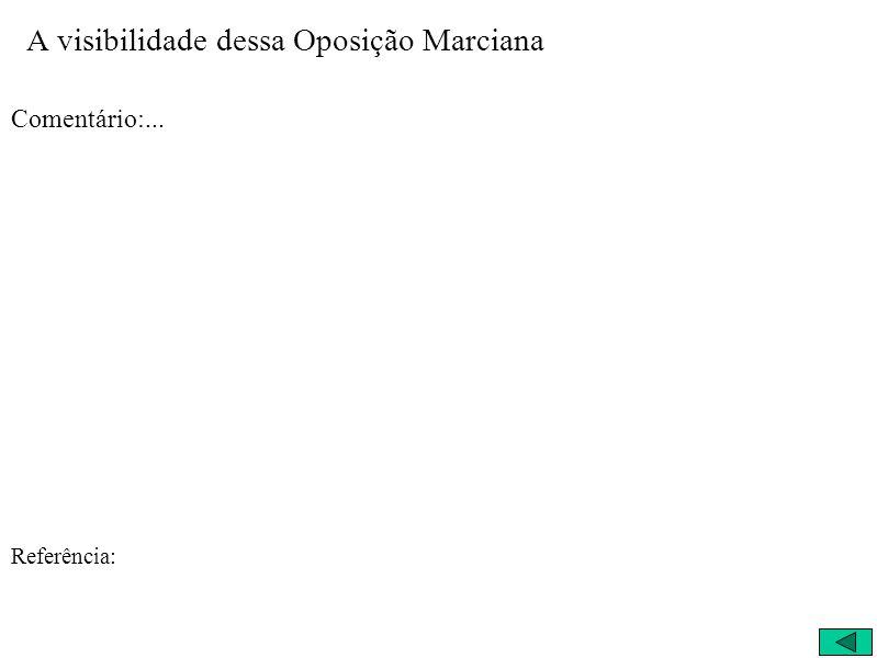 A visibilidade dessa Oposição Marciana Comentário:... Referência: