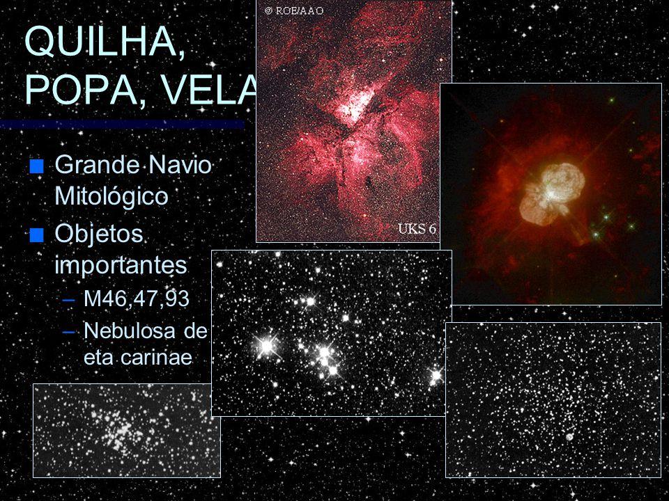 Grande Navio Mitológico Grande Navio Mitológico Objetos importantes Objetos importantes –M46,47,93 –Nebulosa de eta carinae